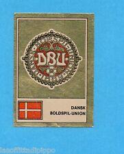 FOOTBALL CLUBS-PANINI 1975-Figurina n.63- DANIMARCA -SCUDETTO/BADGE-Rec