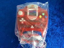 New Rare RED controller for dreamcast + green and blue VMU Rumble Packs joypad
