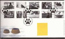 GB FDC 2001 Gatos y Perros