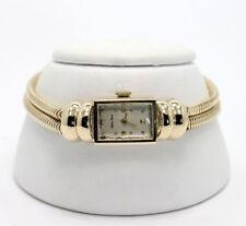 Vintage Mathey Tissot ladies watch 14K yellow gold bracelet 30.6G 35.9 X 14.2 MM