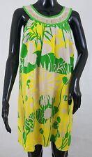 TIBI Womens Shift Dress Size 6 100% Silk Embellished Neckline Floral Sleeveless