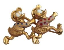 "SPILLA "" PAPEROTTI "" IN ORO GIALLO 18KT CON SMALTO - 18KT GOLD DUCKS BROOCH"