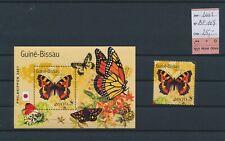 LM97533 Guinea-Bissau 2001 butterflies insects fine lot MNH cv 25 EUR