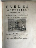Houdar de la FAVOLE - De La Motte : Fables Nouvelles -1719  frederic Hillmarcher