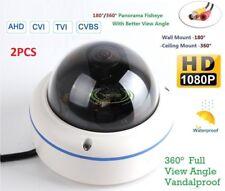 2PCS CCTV Fisheye Mini Dome Camera -180˚/360˚ Panorama View Angle Vandalproof