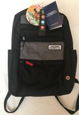 "New NWT American Tourister 18"" Straightshooter Backpack Laptop Travel Black Gray"