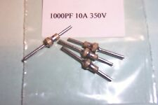 1000pF 350V  10A Feedthrough feedthru capacitors Qty 4 new New Stettner parts
