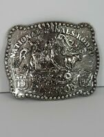 1985 National Finals Rodeo NFR Hesston Youth Belt Buckle Calf Roping NEW Sealed