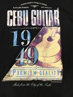 Cebu Guitar T-shirt Size Large Black
