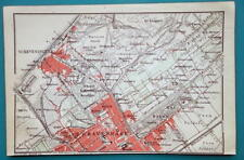 "1905 BAEDEKER MAP - Holland Haague 's-Gravenhage City Plan  4"" x 6"" (10 x 15 cm)"