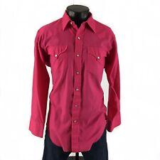 Mens Vintage HbarC Wester Shirt Sz XL Long Sleeve Pearl Snap Lightweight H Bar C