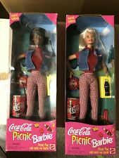 "1997 Coca-Cola Picnic Barbie Special Edition Mattel ""NEW"" Lot Of 2"