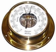 Nave barometri 110 mm in ottone facilmente nave-strumento