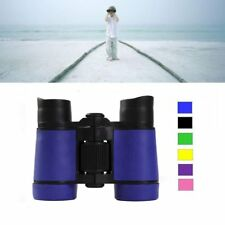 Kid Binoculars Children Binocular 4X30 Dark Blue Plastic Telescope Toy Magnifier
