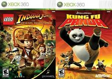 Lego Indiana Jones Kung Fu Panda Double Pack NEW and Sealed XBox 360