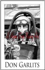 "Drag Racing Art Print of  Don Garlits... 13"" x 19"""