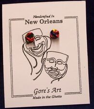 "Handcrafted Multicolored Small Post Earrings by Gore's ""Made in the Ghetto"" Art"