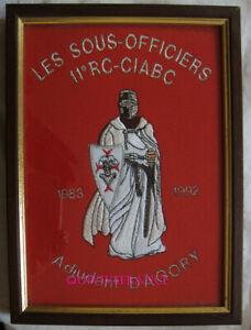 broderie 11é REGIMENT DE CUIRASSIERS C.I.A.B.C. CARPIAGNE 1992