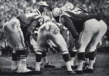 1950's NFL FOOTBALL ~ Baltimore COLTS Offensive Huddle UNITAS ~ Photo Art 11x14