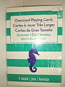 Over Size Playing Cards Sealed New 7 X 5 inches Beach themed