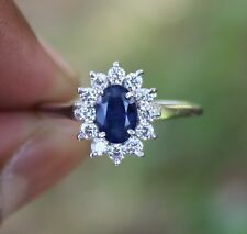 PRONG DIFFUSION SAPPHIRE ZIRCON 925 STERLING SILVER RING JEWELRY SIZE US 3 TO 13
