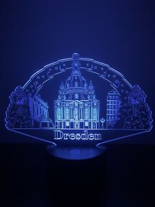 LED Lichterbogen Dresden Frauenkirche Weihnachtsdeko Farbwechsel Nachtlicht
