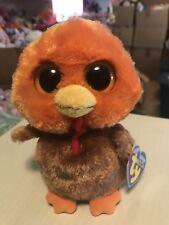 "db231d491c6 Ty GOBBLER -Orange Brown Red Thanksgiving Turkey 6"" Beanie Boo!"