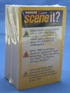Scene It Movie Trivia Cards Only Replacement Game Piece Part 2nd Edition