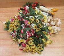 Huge Lot Assorted Floral Craft Supplies Artificial Flowers Fruits & Vegetables
