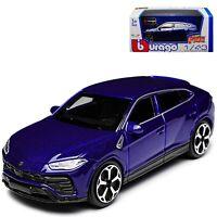 LAMBORGHINI URUS 1:43 Car Model Metal Diecast Cars Die Cast Miniature Blue Toy