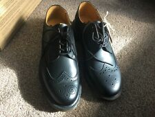Dr Martens black Leather 3989 Brogue Shoes, UK size 9 Brand New, free UK postage