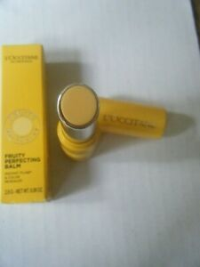 L'OCCITANE FRUITY PERFECTING BALM LE YELLOW 2.8G NEW/BOXED