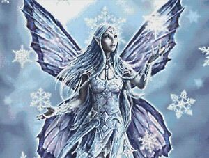 SNOW FAIRY # 3 - COUNTED CROSS STITCH CHART