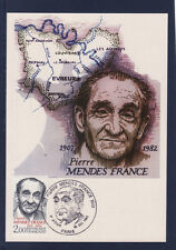carte  1er jour     pierre Mendes France   75 Paris  1983