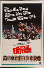 VICTORY AT ENTEBBE MOVIE POSTER Original 1976 Folded 27x41 ANTHONY HOPKINS