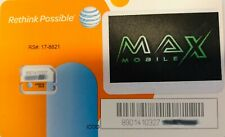 Max Mobile Powered By At&T Sim Card For Unlimited Plan with 22Gb High Speed Data
