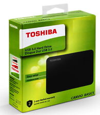 Toshiba HDD externe Festplatte Canvio Basics 2,5 Zoll 2TB USB 3.0 schwarz