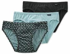 Jockey 3-Pack Men's 100% Cotton Elance Bikini Briefs Sailor Gray Size XL