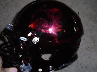 Louisville Cardinals Football Game used Riddell Speed Helmet Black Chrome LG #11
