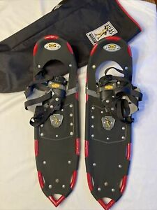 Vintage Atlas Backcountry Adult Snowshoes Snow Shoes - RED - 1022 With Carry Bag