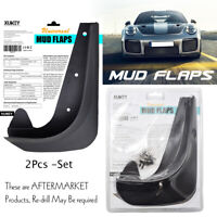 Universal Front or Rear Mudguards Mud Flaps Splash Guards Mudflaps 2pcs/Set