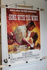 1985 Gone with the Wind Movie Memorabilia Poster CED Videodisc Laserdisc