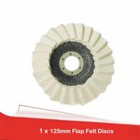 Disque en feutre Ø125x22mm Disque de polissage Broyeur d'angle à polir meuleuses