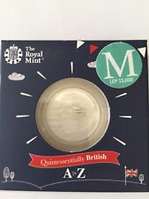 2018 Letter M 10p Silver Proof Royal Mint Coin