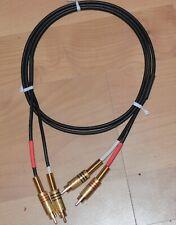 Audio-Kabel RCA / Cinch Sommer Cable / RCA-Stecker vergoldet / 1,50 m lang
