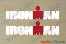PEGATINA STICKER VINILO Ironman blanco multicolor triatlon aufkleber autocollant