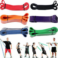 Heavy Duty Exercise Resistance Loop Set Bands Set Fitness Home Yoga Gym Pull Up