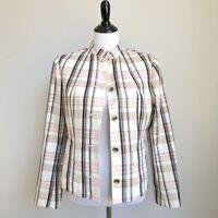 Carlisle Plaid Blazer Jacket Size 8 Womens