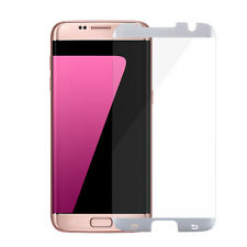 100PCS White Samsung Galaxy S7 edge Tempered Glass Screen Protector Anti-Scratch