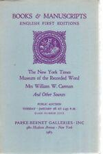 1965 Parke Bernet Auction Catalog-Books & Manuscripts-English First Editions